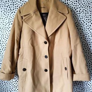 Calvin Klein Size 16 Camel Coat